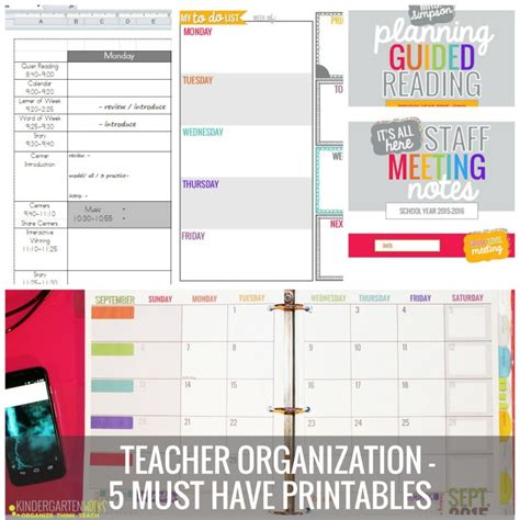 printable organizational tools teacher organization 5 must have printables