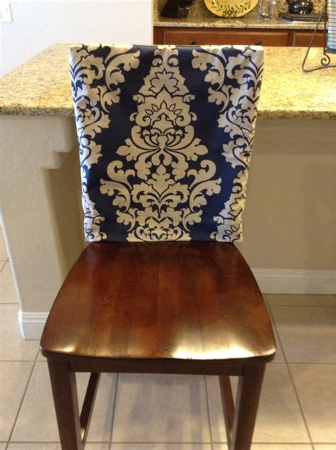 Dining Room Chair Back Covers Indigo Fitted Chair Back Cover Ktichen Or Dining Room Chair