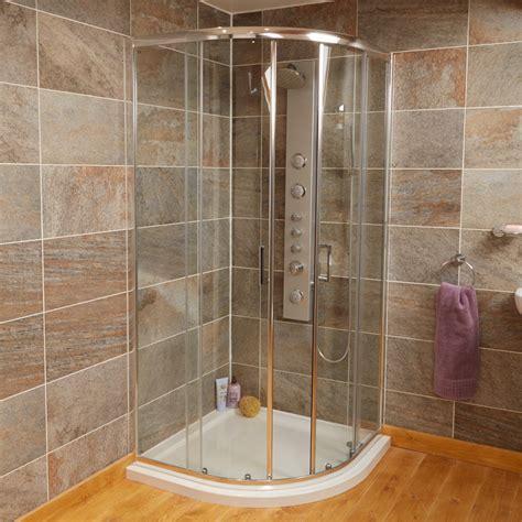 Quadrant Corner Shower Enclosure 900mm Chrome Sliding Thick Glass Shower Doors