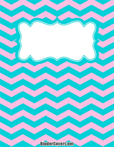 printable 3 ring binder covers printable pink and blue chevron binder cover