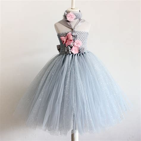 Dress Tutu Girly baby tutu silver gown dress baby tutu dress for