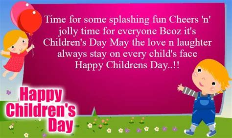 message for s day happy childrens day status for whatsapp messages for