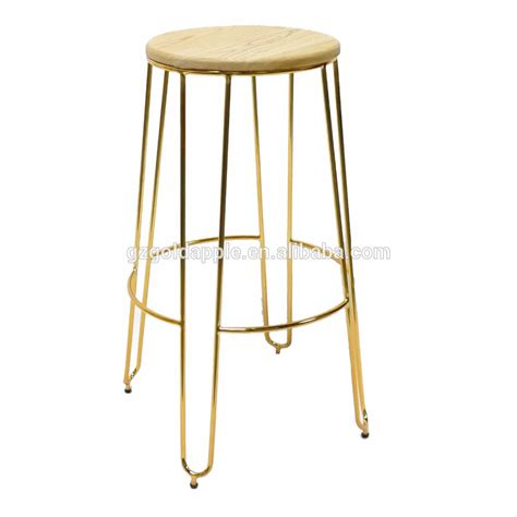 Gold Colored Stool modern appearance furniture metal wire bar stool gold