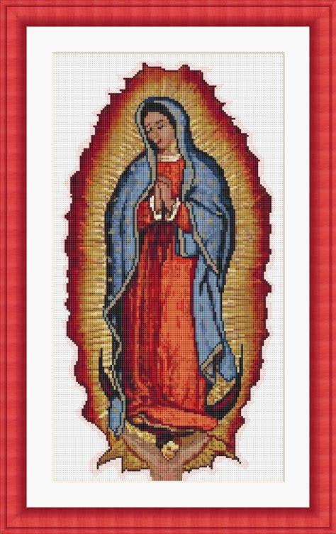 el manto de la virgen de guadalupe imagenes de la virgen de guadalupe en punto de cruz imagui