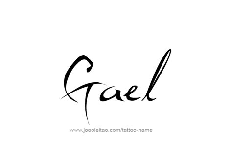 gael name tattoo designs