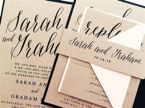 Wedding Invitation Suite by Wedding Invitation Wedding Invite Modern Calligraphy