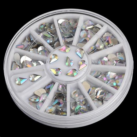 Ab Color Rhinestones In Wheel Nail ab color water drops design rhinestones for nails wheel 3d nail decorations zp015 in