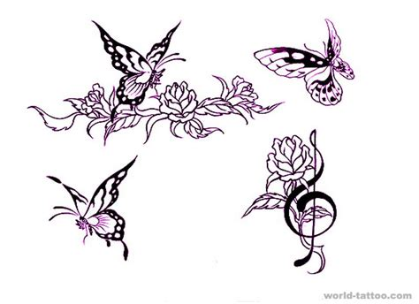design flower and butterfly tattoo butterfly roomfurnitures