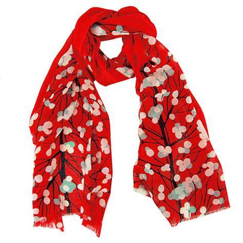 marimekko lumimarja orange scarf marimekko scarves