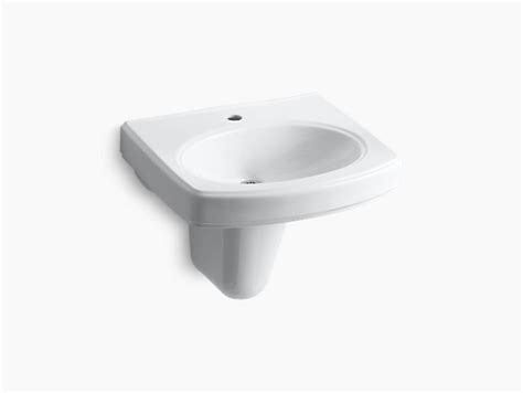 kohler wall mount sink pinoir wall mount sink with single and shroud k