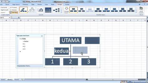 cara membuat struktur organisasi disertai foto membuat struktur organisasi di excel youtube