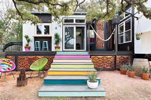 mid century modern tiny house gorgeous tiny home on wheels blends midcentury and boho