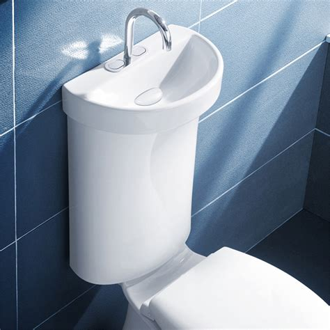 caroma wels 5 star flush profile 5 toilet cistern with integrated hand basin