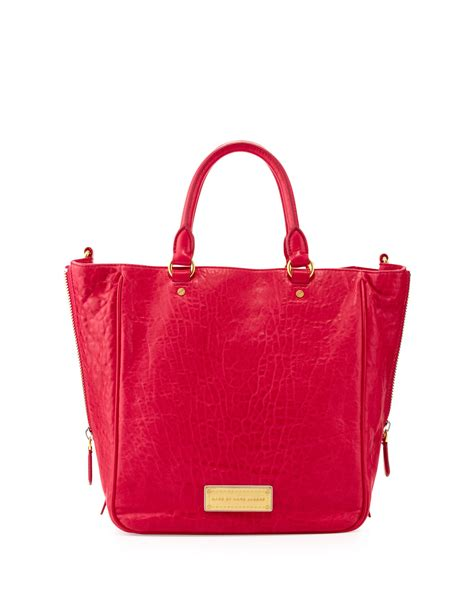 Marc Washed Leather Purse by Marc By Marc Washed Up Leather Tote Bag Raspberries
