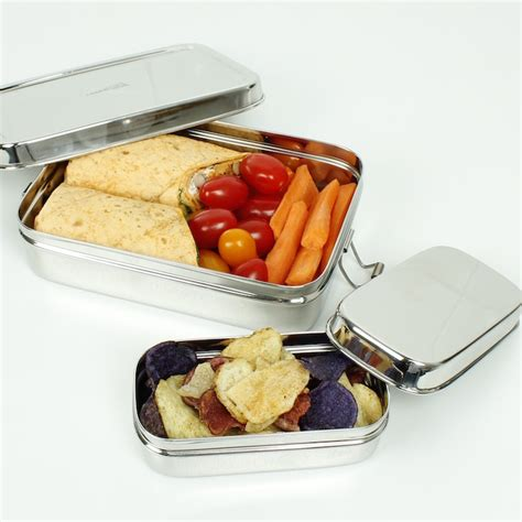 Gig Baby Rectangle Lunchbox rectangle lunch box with mini container a slice of green