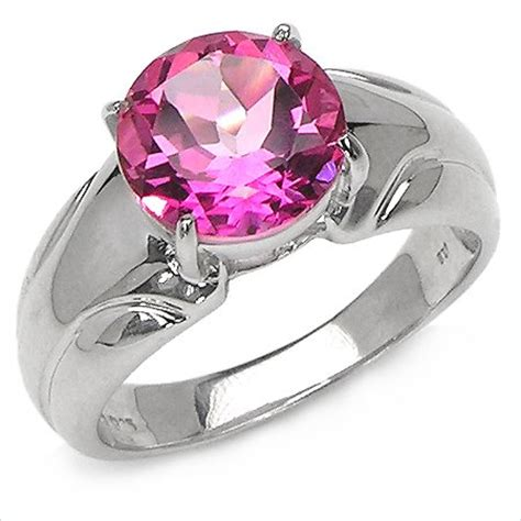 pink topaz rings fashion jewelry gemstone rings sterling