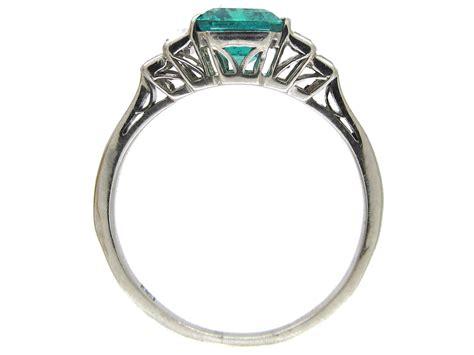 deco emerald baguette ring the antique