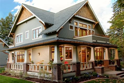 modern craftsman home plans porch modern house plan