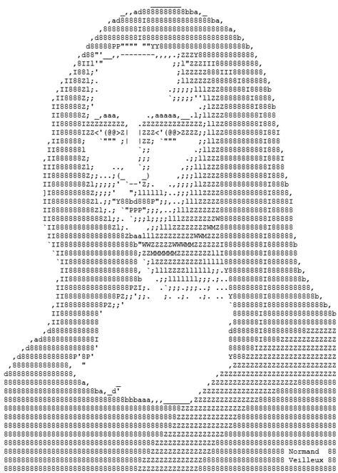 imagenes hechas con simbolos y letras ejemplos de dibujos y figuras del arte ascii para usar en