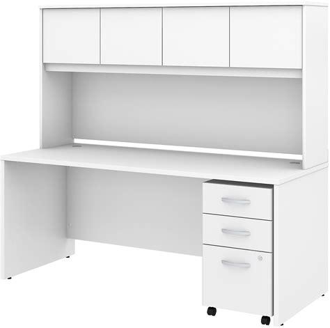 desk with hutch and file cabinet studio c white 72 quot office desk with hutch and mobile file