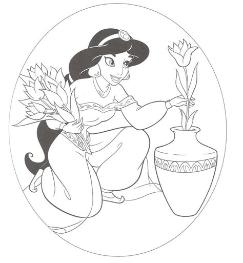 coloring pages jasmine princess free printable jasmine coloring pages for kids best