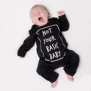 Romper Baby Not Your Basic slogan clothing notonthehighstreet