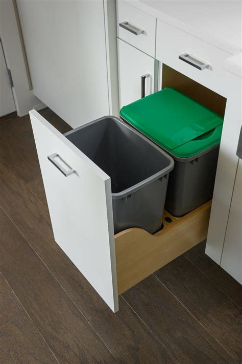 kitchen cabinet recycle bins pictures of the hgtv smart home 2015 kitchen hgtv smart