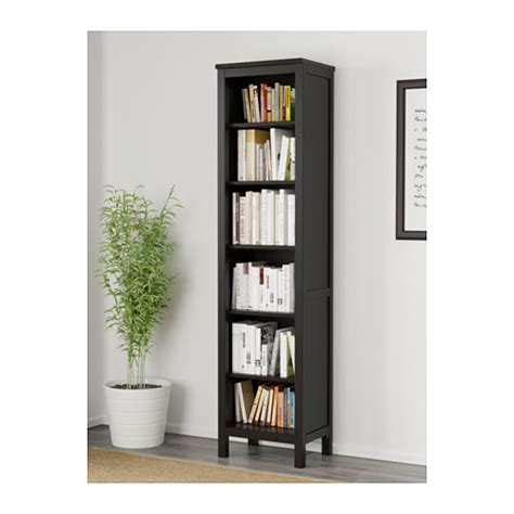 hemnes bookcase black brown 49x197 cm ikea