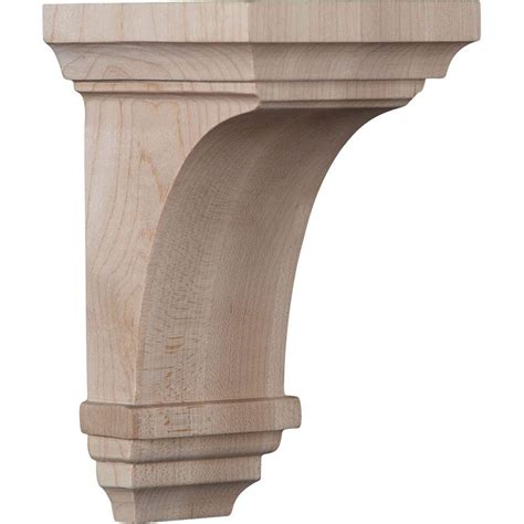 what is corbel ekena millwork 3 1 2 in x 6 in x 3 3 4 in alder mini