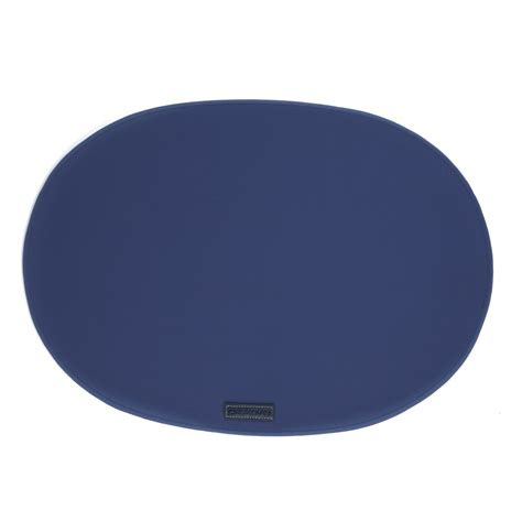 Oblong Nevy rubber placemats oval navy