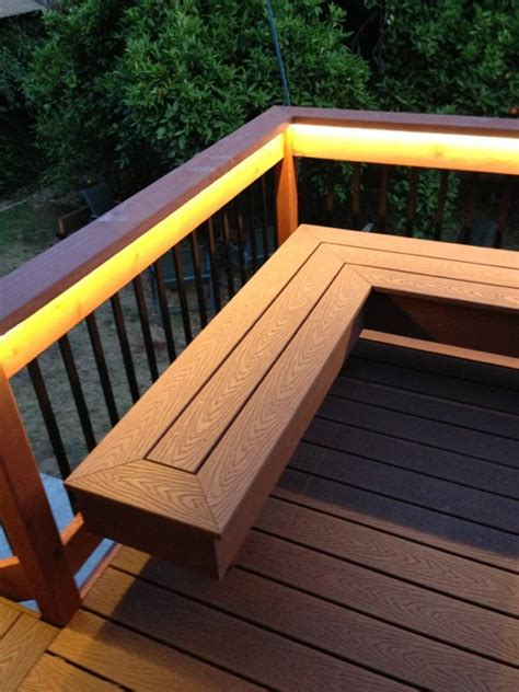 deck  bench composite redwood contemporary