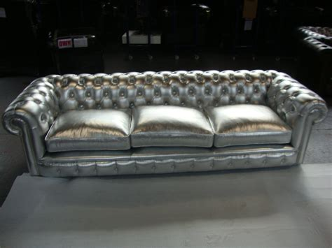 silver chesterfield sofa is a metallic chesterfield for you