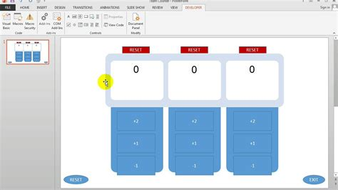 powerpoint tutorial online free separate reset and exit buttons in multiple counters in