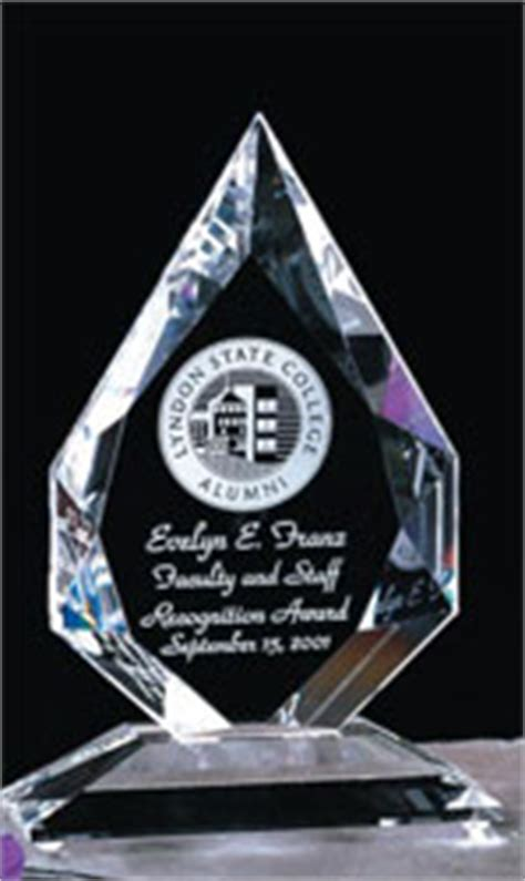 Diamon Glass Motif Gloria Display shaped awards