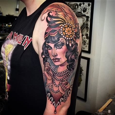 vintage lady tattoo designs neo traditional tattoos best ideas gallery part 3