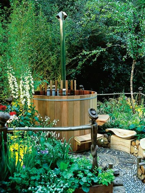 backyard designs with hot tub 48 awesome garden hot tub designs digsdigs