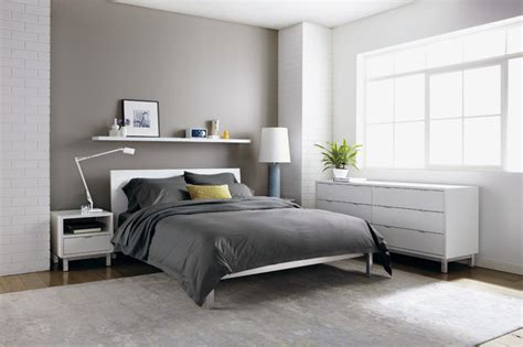 Room And Board Bed by Copenhagen White Bedroom By R B Modern Bedroom Other Metro By Room Board