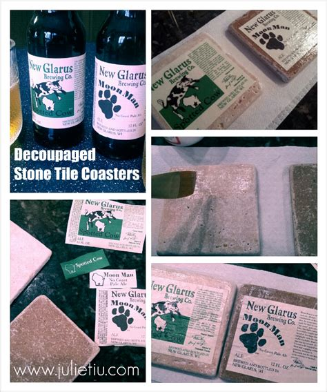 decoupage coaster tutorial so this is julie 187 blog archive 187 diy decoupage beer label