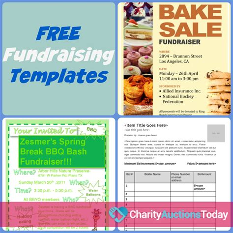 Free Flyers Templates businesses that help fundraise charity auctions today