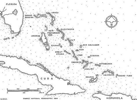 bahamas map coloring page bahamas