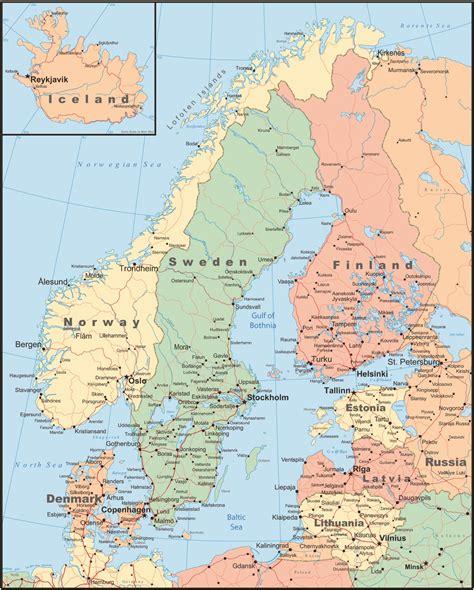 scandinavia map scandanavia map laminatoff