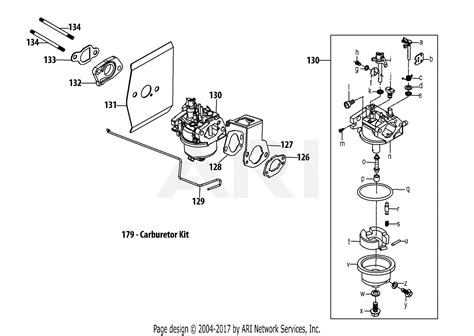 mtd xru engine parts diagram  xru carburetor