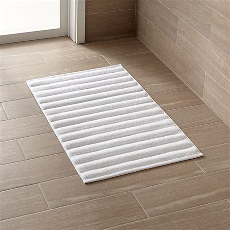 bathroom matting white bath mat crate and barrel