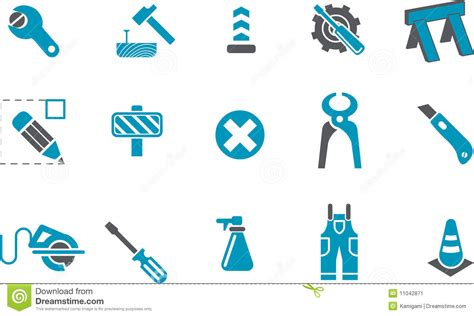 the image works works icon set stock illustration image of circle cutter