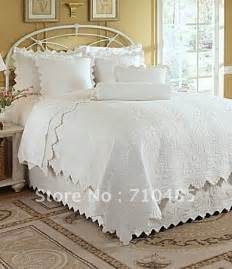 White Size Quilt 100 Cotton Capistrano 3pcs Quilt Bedding Set White