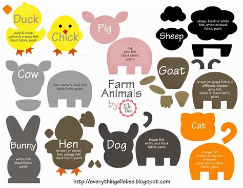 felt board templates free printable diy felt board felt farm animals animal templates