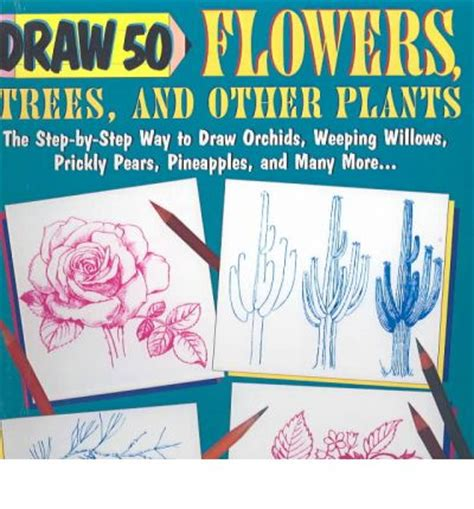 Draw 50 Flowers Trees And Other Plants draw 50 flowers trees and other plants j ames