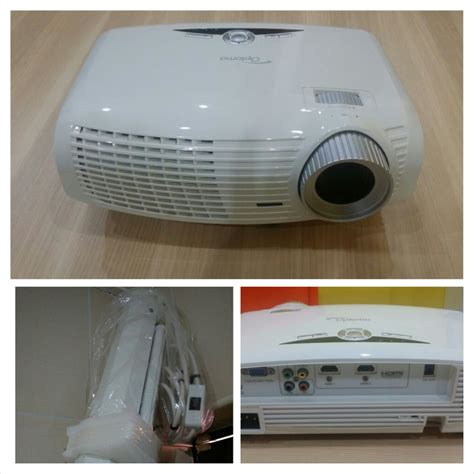 Screen Projector Motorized 92 Inci optoma hd20 hd projector with 92 quot inch hd motorized