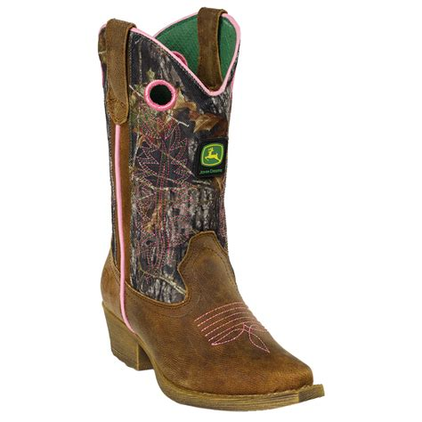 camo cowboy boots deere youth camo western pull on