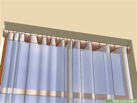 curtain pole to fit in recess 4 ways to hang voile wikihow